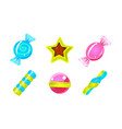 collection glossy candies colorful sweets of vector image vector image