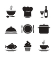 Collection of restaurant design elements vector image vector image
