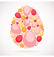 colorful mosaic egg vector image vector image