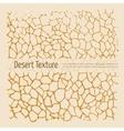 Desert texture vector image