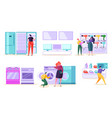 electronic retail store sale market consumer vector image vector image