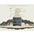 environmental pollution in the atmosphere vector image