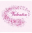 festive background for postcard with hearts vector image vector image
