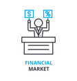 financial market concept outline icon linear vector image