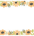 floral borders template background with place for vector image