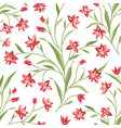 floral seamless pattern flower background floral vector image vector image