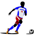 football playeron the field colored vector image vector image
