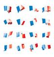 france flag on a white vector image
