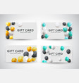 gift card template with balloons vector image vector image
