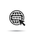 go to web icon internet flat for website vector image vector image