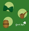 good luck and saint patricks day symbols vector image