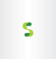green s logo eco letter s icon vector image vector image