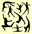 gymnastic sport silhouette vector image vector image