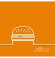 Hamburger icon on background vector image vector image