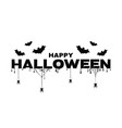 happy halloween background with text bats spider vector image