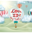 Heart shaped air balloon EPS 10 vector image