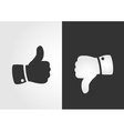 Like and dislike icon flat design vector image vector image