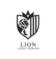 lion logo design element for poster banner vector image vector image