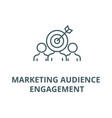 marketing audience engagement line icon