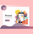 mobile phone website landing page design vector image