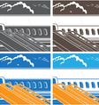 modern jet airliner symbol vector image vector image