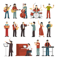 Musicians Color Icons Set vector image