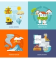 Natural Disaster Flat vector image vector image