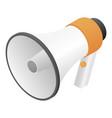 new hand speaker icon isometric style vector image