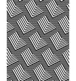 Op Art Design Zig Zag Striped Seamless Pattern vector image vector image