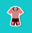 paper sticker fashion clothes shorts and polo vector image vector image