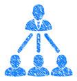 People organization structure grunge icon