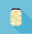 pickled garlic in glass jar vector image