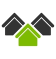 Real estate icon from Business Bicolor Set vector image
