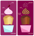 Recipes cream sundae cupcake vector image vector image