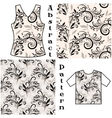 Seamless Floral Patterns Silhouettes vector image vector image
