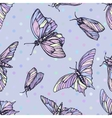 seamless pattern with butterflies in soft vector image vector image