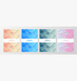 set abstract colorful minimal covers pattern vector image vector image