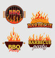 set of barbecue logos and labels vector image vector image