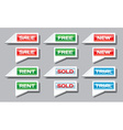 Set of commercial pointer signs vector image vector image