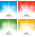 set of sunlight effect sparkle on yellow vector image vector image