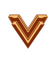 sign letter v vector image vector image
