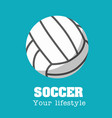 soccer your lifestyle soccer ball background vector image