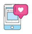 social network technology vector image vector image