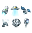 Space icon set on white vector image