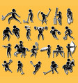 sticker set with sport icons vector image vector image