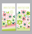 tender concept floral pattern vector image vector image