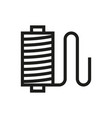 thread spool icon on white background vector image