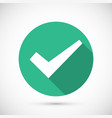 Tick icon flat vector image vector image