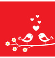 Two cute birds vector | Price: 1 Credit (USD $1)
