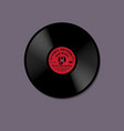 vinyl record with red label model mockup music vector image